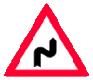 Curba dubla sau o succesiune de mai multe curbe prima la dreapta