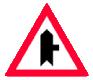 Intersectie cu un drum fara prioritate