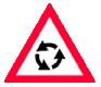 Presemnalizare intersectie cu sens giratoriu