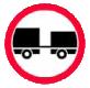 Accesul interzis autovehiculelor cu remorca cu exceptia celor cu semiremorca sau cu remorca cu o osie
