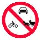 Accesul interzis autovehiculelor si vehiculelor cu tractioune animala