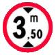Accesul interzis vehiculelor cu inaltimea mai mare de ?m
