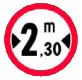 Accesul interzis vehiculelor cu latimea mai mare de ?m