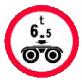 Accesul interzis vehiculelor cu masa pe osie dubla mai mare de ?t