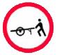 Accesul interzis vehiculelor impinse sau trase cu mana